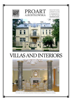 Okładka katalogu Villas and Interiors